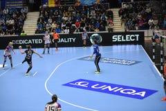 Handball match - CSM Bucharest and Midtjylland Stock Image
