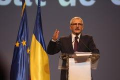 Liviu Dragnea at Social Democrat Party PSD Extraordinary National Congress. BUCHAREST, ROMANIA - March 10, 2018: Liviu Dragnea, President of Social Democrat Stock Images