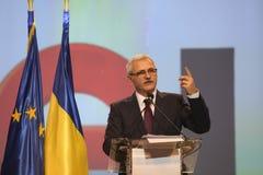 Liviu Dragnea at Social Democrat Party PSD Extraordinary National Congress. BUCHAREST, ROMANIA - March 10, 2018: Liviu Dragnea, President of Social Democrat Royalty Free Stock Photo