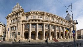 Bucharest, Romania - March 16, 2019: Romania National History Museum also known as the Postal Palace was build in 1900.  stock image