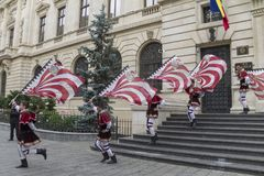 Bucharest, Romania - May 30, 2014: The Flag Wavers show of the performers from Italy Stock Photography