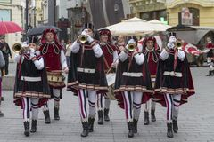 Bucharest, Romania - May 30, 2014: The Flag Wavers show of the performers from Italy Royalty Free Stock Photography