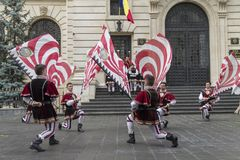 Bucharest, Romania - May 30, 2014: The Flag Wavers show of the performers from Italy Stock Photos