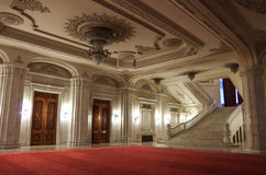 Bucharest, Romania - May 5, 2014: Interior of Palace of Parliame Royalty Free Stock Photography