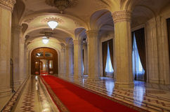 Bucharest, Romania - May 5, 2014: Interior of Palace of Parliament on in Bucharest. stock image
