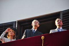 King Michael of Romania. Bucharest, Romania - May 10, 2012: King Michael of Romania with the Romanian Royal Family during one of his last public appearance in stock photos