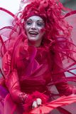 Bucharest, Romania - May 29, 2014: The Red Hearts show of the performers from the Mademoiselle Paillette Company, France. During the B-Fit International Street Stock Photo