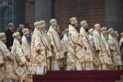 Consecration ceremony of Romania's National Cathedral royalty free stock images