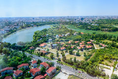 BUCHAREST, ROMANIA - OCTOBER 25, 2015: Bucharest North Side, Her Royalty Free Stock Photos