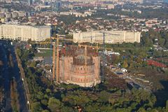 Bucharest, Romania, October 9, 2016: The building of the largest cathedral in Bucharest. Romania stock photos