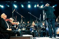 Charity concert for Colectiv victims Stock Images