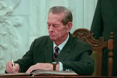 King Michael of Romania stock images