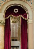List of soldiers - Jews from Bucharest, who died in the First World War, hanging on the wall in the synagogue Coral in Bucharest c. Bucharest, Romania, October Royalty Free Stock Photo