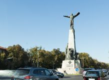 Monument to the Heroes of the Air on the Boulevard of the Aviators in Bucharest city in Romania. Bucharest, Romania, October 10, 2017 : Monument to the Heroes of Royalty Free Stock Images