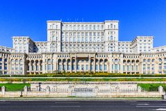 Bucharest, Romania. The Palace of the Parliament. The second largest building in the world Stock Photo