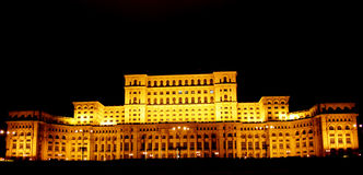 Bucharest, Romania- People House by night Royalty Free Stock Photos