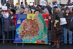 Bucharest, Romania - Protest against President Klaus Iohannis. stock photos