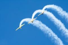 Free Bucharest, Romania - September 21, 2019 - Aeronautic Show Lacul Morii, Iacarii Acrobati Romanian Aerobatics Team Performing Stock Photos - 159278093