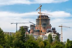 BUCHAREST/ROMANIA - 21. SEPTEMBER: Das rumänische Leute ` s Salvati stockfoto