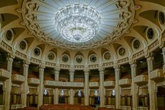 BUCHAREST/ROMANIA - SEPTEMBER 21 : Interior view of the Palace o stock photo