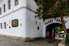 BUCHAREST, ROMANIA - SEPTEMBER 27, 2015: Manuc's Inn (Hanul lui Manuc) built in 1808 is the oldest hotel building in Bucharest Royalty Free Stock Images