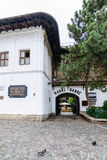 BUCHAREST, ROMANIA - SEPTEMBER 27, 2015: Manuc's Inn (Hanul lui Manuc) built in 1808 is the oldest hotel building in Bucharest Royalty Free Stock Photos