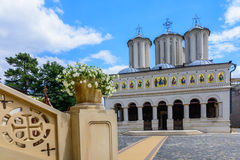 BUCHAREST, ROMANIA - SEPTEMBER 01: The Patriarchate on September 01, 2015 in Bucharest, Romania Royalty Free Stock Photos