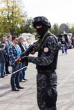 BUCHAREST, ROMANIA - SEPTEMBER 2013, prison police forces action Royalty Free Stock Photo