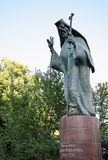 Bucharest, Romania: Statue of Saint Antim Ivireanul. Antim the Iberian was a Georgian theologian and philosopher (1650 - 1716),taken prisoner in Georgia by stock photography
