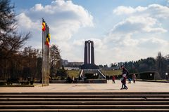 Bucharest, Romania - 2019. The unknown soldier mausoleum located in Carol Park royalty free stock photos