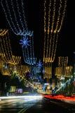 Bucharest Rumänien December 25: Magheru Bvd på December 25, 20 Fotografering för Bildbyråer