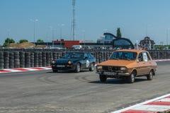 Bucharest Rumänien - Juli 11, 2015: Retromobil grand prix 2015 royaltyfri fotografi