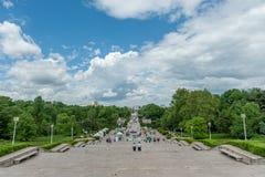 BUCHAREST RUMÄNIEN - MAJ 14, 2017: Carol Park i Bucharest, Rumänien arkivfoto
