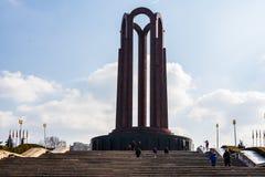 Bucharest Rumänien - 2019 Mausoleet för okänd soldat som lokaliseras i Carol Park arkivfoton