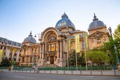 Bucharest Rumänien - 28 04 2018: Slott av insättningarna och avsändningarna i Bucharest Royaltyfri Bild