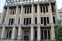 Bucharest Rumänien: Stads- förfall Arkivbild