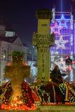 Bucharest, Rumunia ï ¿ ½ Grudzień 25: Piata Universitatii Rumuński Obrazy Royalty Free