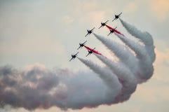 BUCHAREST, RUMUNIA, 2015: Akrobatyczni samoloty przy Bucharest Internat Zdjęcia Royalty Free