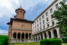 BUCHAREST RUMUNIA, CZERWIEC, - 28: Kretzulescu kościół na Czerwu 28, 2015 W Bucharest, Rumunia Kościół budował w 1720 w Branc Fotografia Stock