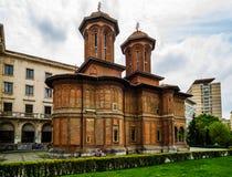 Bucharest, Rumunia - 2019 Kretzulescu Ko?cielny Biserica Kretzulescu w Bucharest, Rumunia obraz royalty free