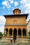 Bucharest, Rumunia - 2019 Kretzulescu Ko?cielny Biserica Kretzulescu w Bucharest, Rumunia zdjęcie royalty free