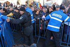 Bucharest, Rumunia - protest przeciw prezydentowi Klaus Iohannis Obrazy Royalty Free