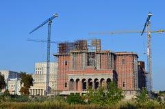 Bucharest, Rumunia: Rumuńska osoby salwowania katedra Zdjęcie Stock