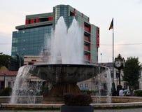 Bucharest Rumunia: Zodiak fontanna przy Carol parkiem obraz royalty free