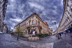 Bucharest's Old Town - Panoramic Stock Photo