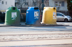 Bucharest selective garbage dumpsters Royalty Free Stock Images