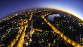Bucharest skyline panorama  at bluehour Royalty Free Stock Photography