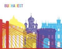 Bucharest skyline pop royalty free illustration