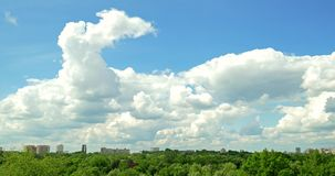 Bucharest Skyline View From Public Youths Park stock video footage