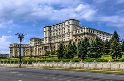 Bucharest slott av parlamentet, Rumänien Arkivfoto